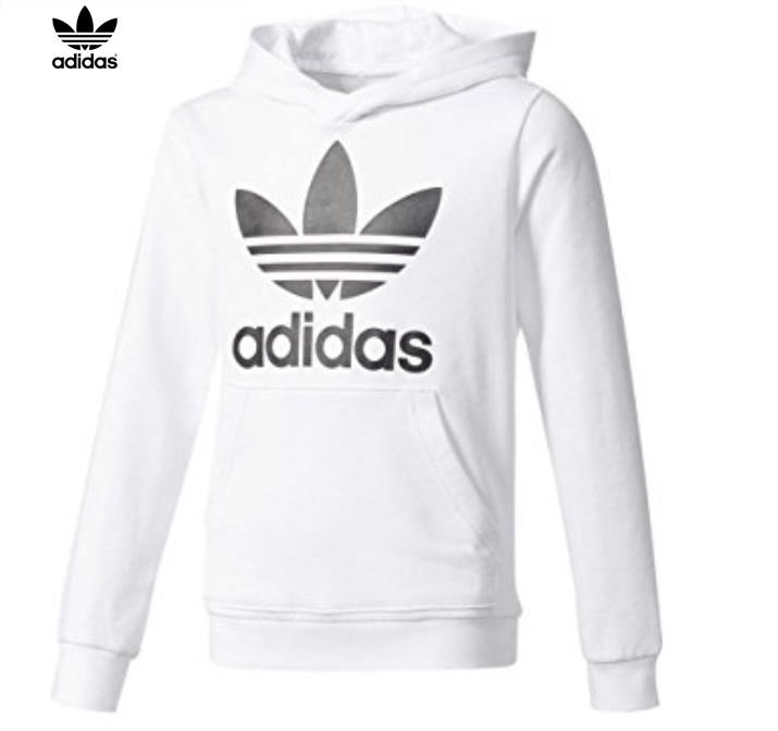 Adidas White Hoodie Youth