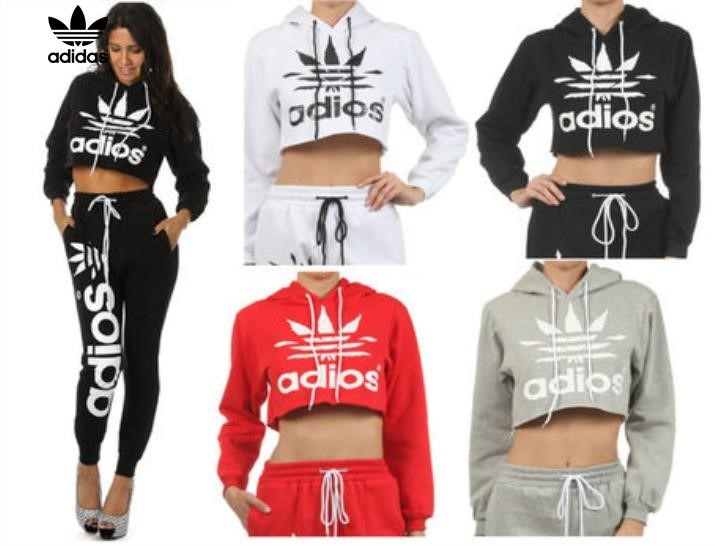 100% high quality new collection cheap price Adidas Crop Tops For Women bridgerskifoundation.com