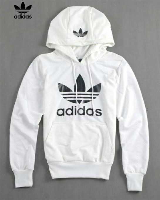 Adidas Hoodie White And Grey